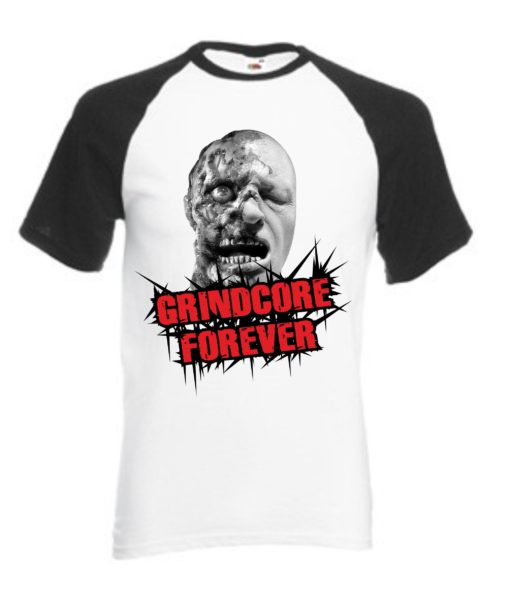 GRINCORE FOREVER - TS black/white/red
