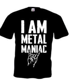 I AM METAL MANIAC (black)