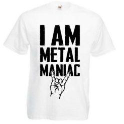 I AM METAL MANIAC (white)