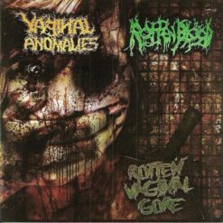 ROTTEN BLOOD / VAGINAL ANOMALIES – Rotten Vaginal Gore / split CD /