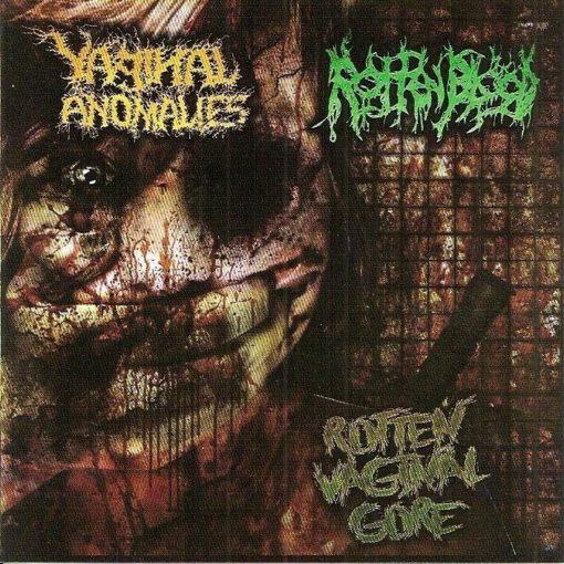 ROTTEN BLOOD / VAGINAL ANOMALIES – Rotten Vaginal Gore / split CD /