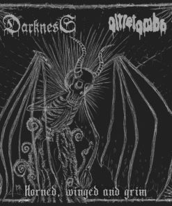DARKNESS / OLTRETOMBA - Horned, Winged And Drim (Split CD)