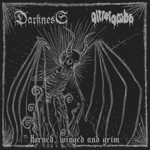 DARKNESS / OLTRETOMBA - Horned, Winged And Drim (Split CD)