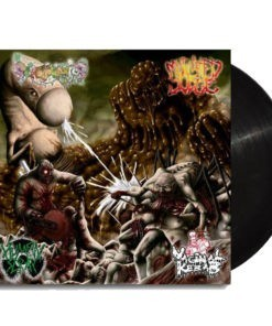 VAGINAL KEBAB / SCROTOVARIOS / MUTILATED JUICE / HUMAN SCRAP - 4 split LP